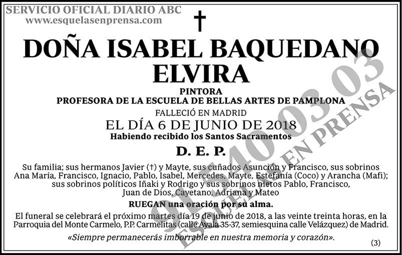 Isabel Baquedano Elvira